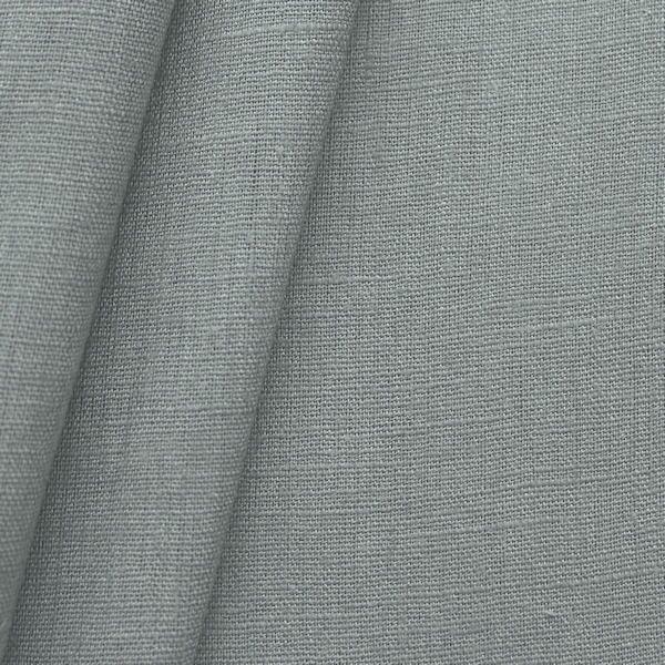 100% Leinen Stoff Artikel Girona Farbe Mittel-Grau