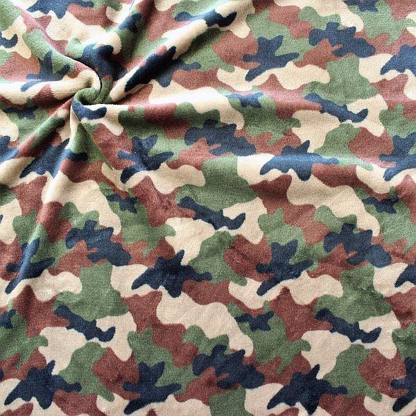 Wellness Fleece Camouflage Braun-Grün