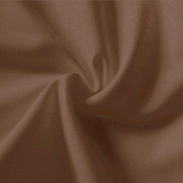 100% Baumwolle Fahnentuch Farbe Mittel-Braun