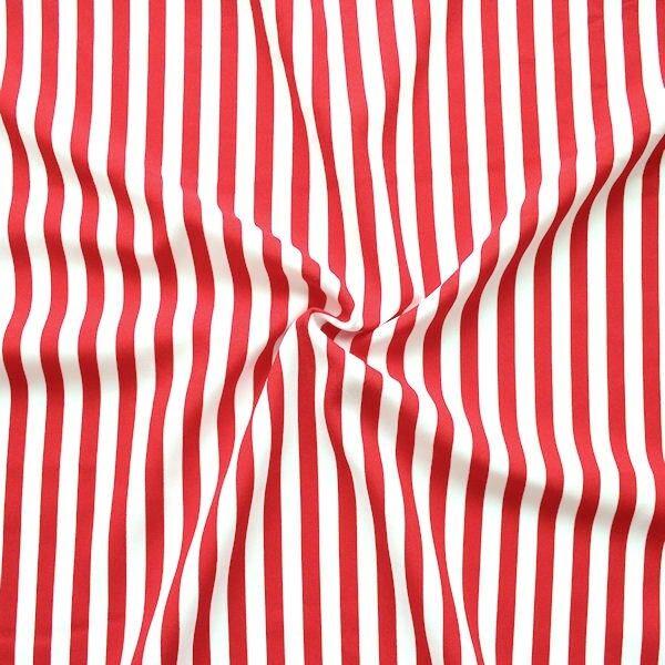 """Modestoff / Dekostoff universal """"Streifen Mittel"""" Farbe Rot-Weiss"""