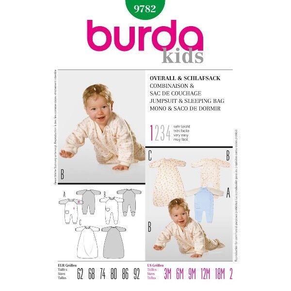 Baby-Overall und Schlafsack, Gr. 62 - 92, Schnittmuster Burda 9782 ...