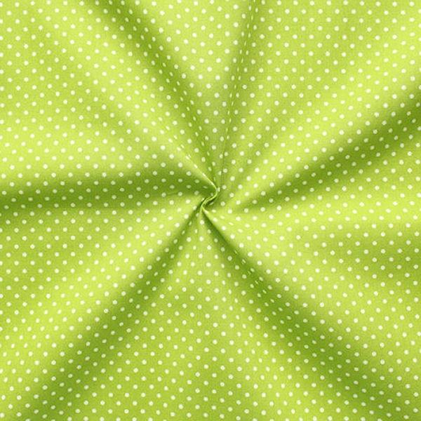 Baumwollstoff Punkte Lind-Grün