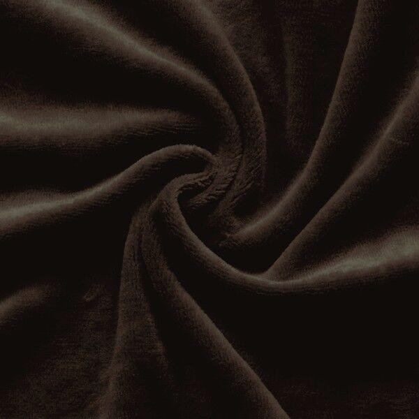 Nicki Baumwollstoff Farbe Dunkel-Braun