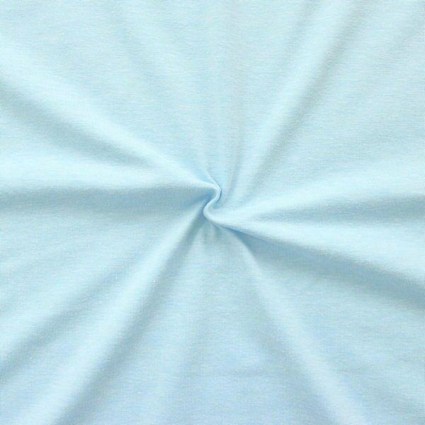 Baumwoll Stretch Jersey Hell-Blau melange