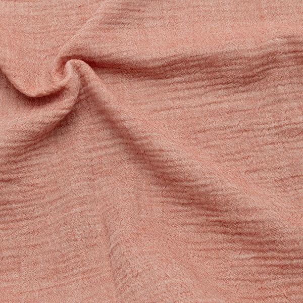 Baumwolle Musselin Double Gauze Melange Rost-Rot
