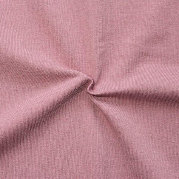 """Sweatshirt Baumwollstoff French Terry """"Fashion Basic 2"""" Farbe Rosé"""