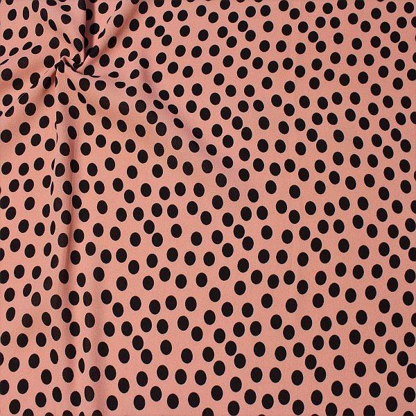 Polyester Crêpe Georgette Tupfen Mittel Rosé