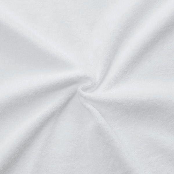 Stretch Micro Frottee Baumwollstoff Farbe Weiss