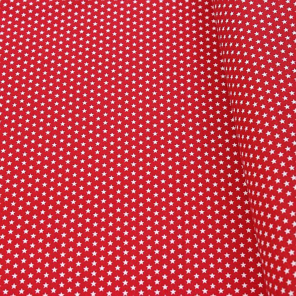 Roter Stoff mit Sternen