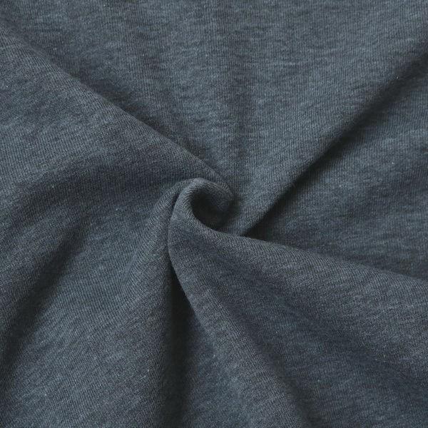Sweatshirt Baumwollstoff Melange Jeans-Blau