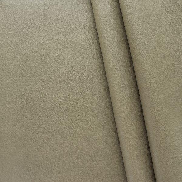 Polster PVC Kunstleder Rindsleder Optik Grau-Beige