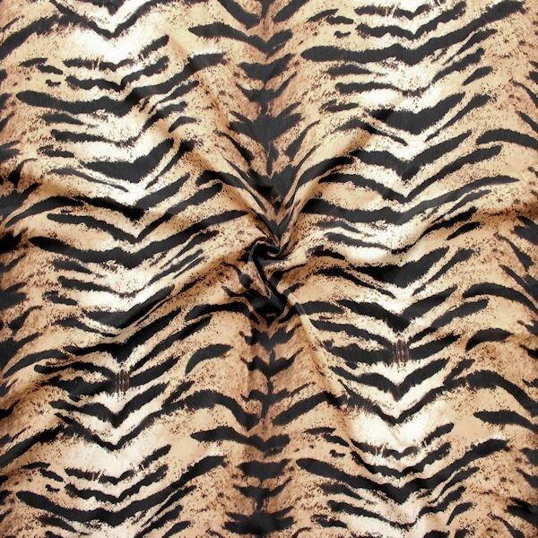 """Modestoff """"Tiger Look"""" Farbe Braun-Schwarz"""