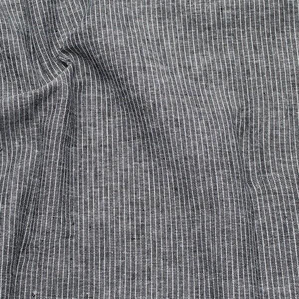 Leinen-Baumwolle Nadelstreifen Schwarz