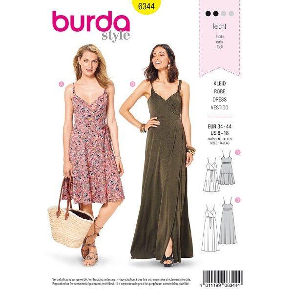 Trägerkleid, Abendkleid 34 - 44, Schnittmuster Burda 6344