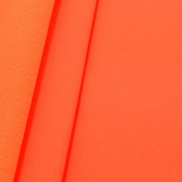 Softshell Fleece Stoff Neon-Orange