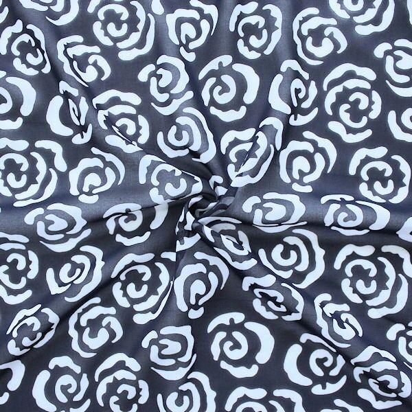 Polyester Chiffon Rosenblüten Dunkel-Blau