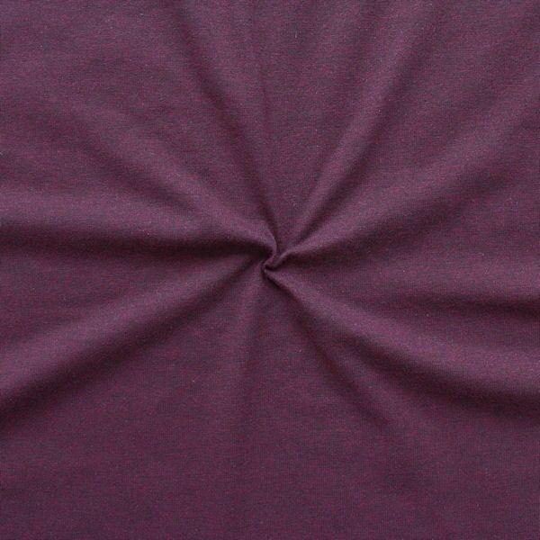 "Baumwoll Stretch Jersey ""Fashion Basic"" Farbe Dunkel-Violett melange"
