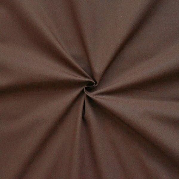 """100% Baumwolle Popeline """"Fashion Standard 2"""" Farbe Dunkel-Braun"""