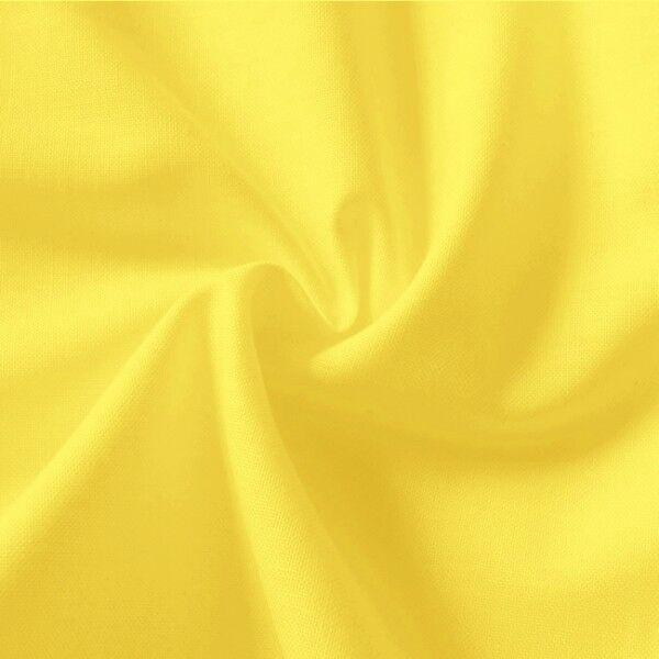 100% Baumwolle Fahnentuch Farbe Gelb