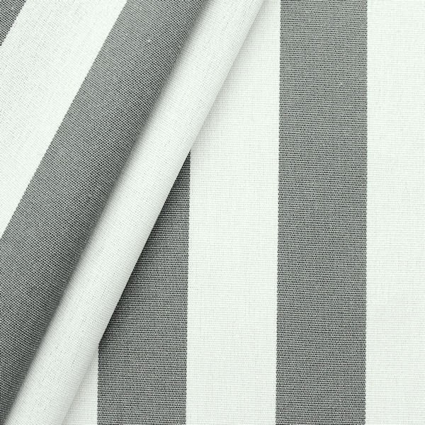 markisen outdoorstoff streifen breite 160cm farbe basalt grau weiss markisenstoffe. Black Bedroom Furniture Sets. Home Design Ideas