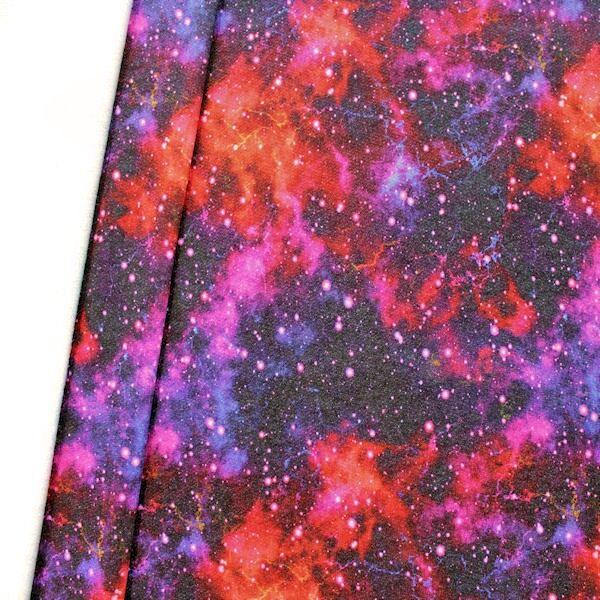 Sweatshirt Baumwollstoff Galaxie Multicolor