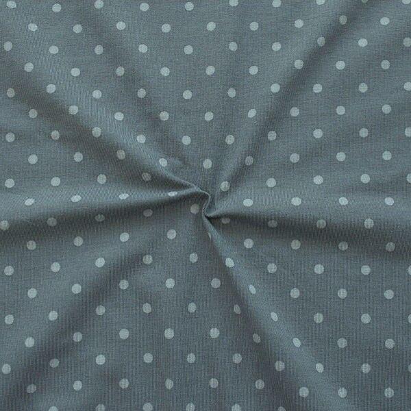 Baumwoll Stretch Jersey Classic Dots Grau Hell-Grau