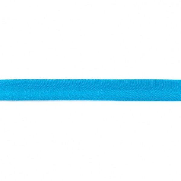 Baumwolljersey Schrägband Breite 20mm Farbe Himmel-Blau