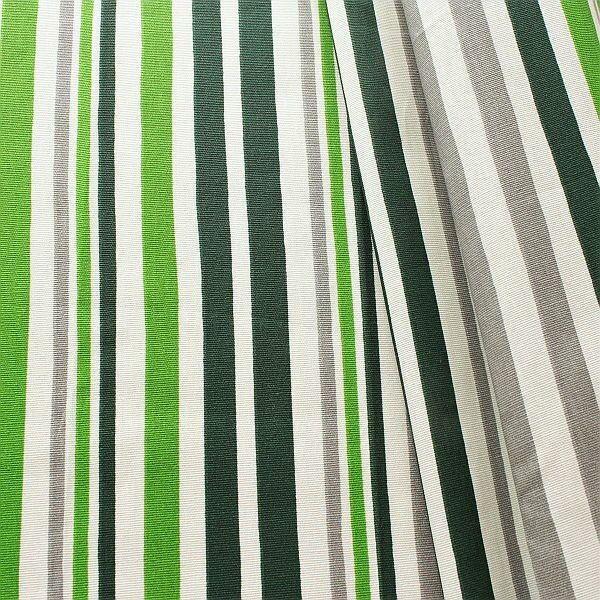 Baumwollstoff beschichtet Streifen Mix Grau-Grün