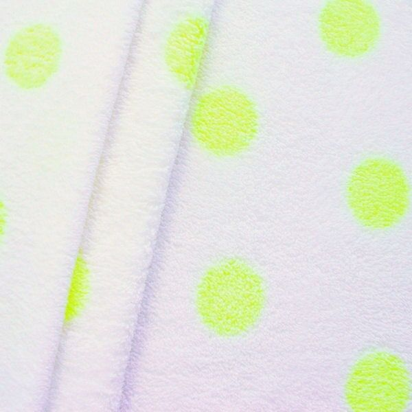 "Wellness Fleece ""Punkte Frost Effect"" Farbe Weiss-Neon Gelb"