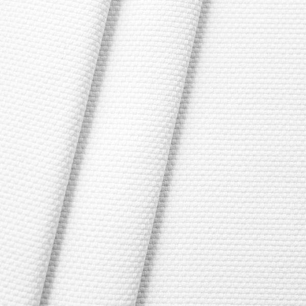 100% Baumwolle Panama schwere Qualität Weiss