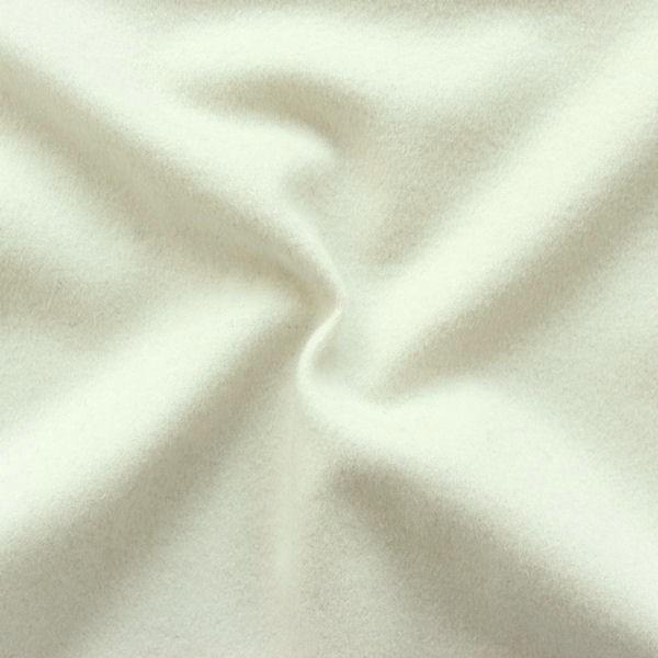 Wollstoff mit Kaschmir Woll-Weiss