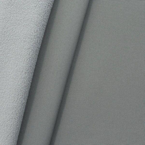 """Softshell Fleece Stoff """"Two Tone"""" Farbe Grau Hell-Grau"""
