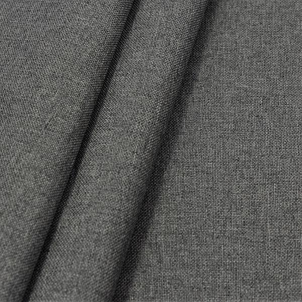 Oxford Gewebe Melange Schiefer-Grau