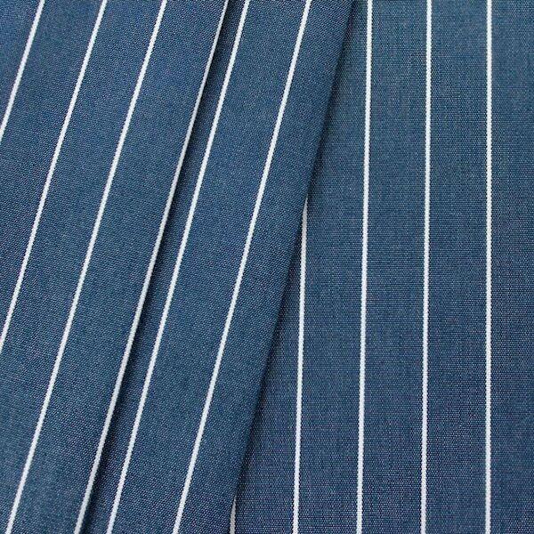 Deko Outdoorstoff Streifen fein Dunkel-Blau melange
