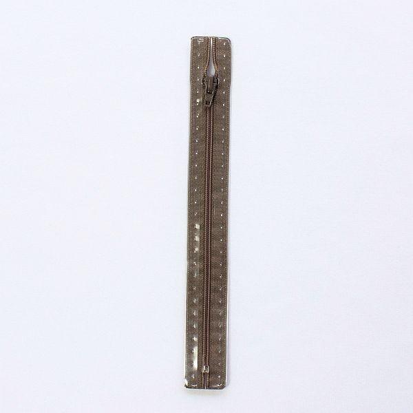 Reißverschluss S1 Typ 18 cm Grau-Braun