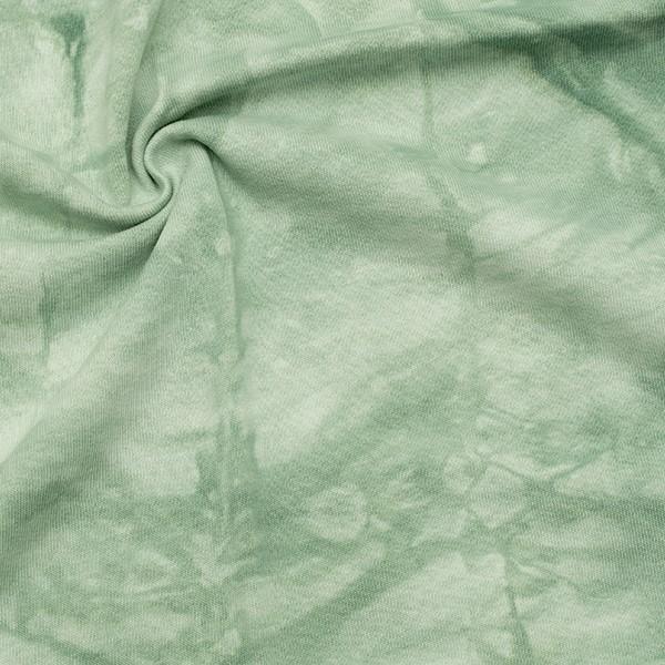 Sweatshirt Baumwollstoff French Terry Batik Look Mint-Grün