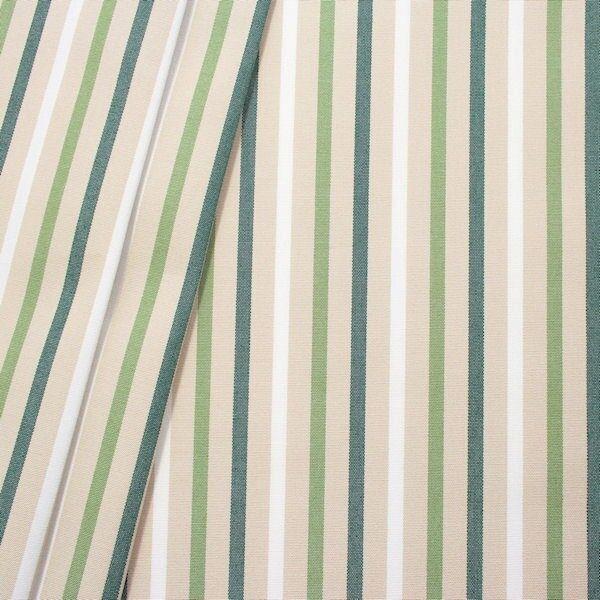 """In- / Outdoorstoff Artikel Acrisol """"Streifen Mix 2"""" Farbe Beige-Grün"""