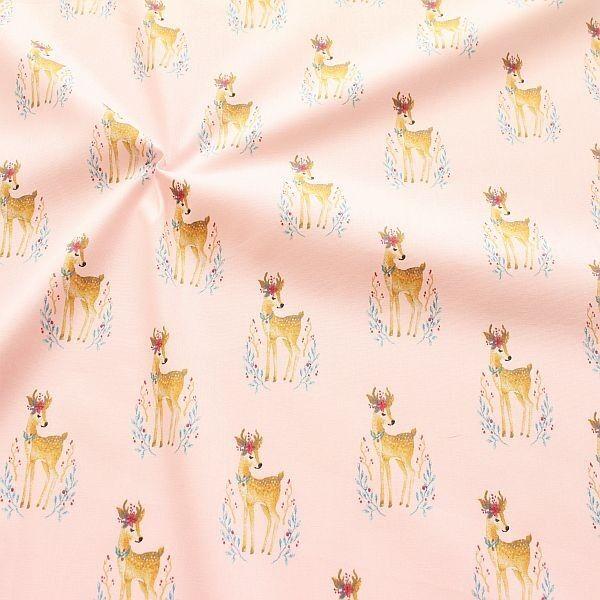 Baumwollstoff Gipsy Deer Rosa