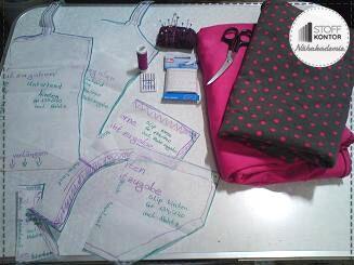 benötigte Materialien für selbstgenähte Unterwäsche