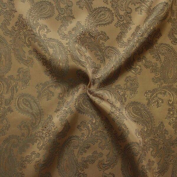 Futterstoff Jacquard Paisley Bronze-Braun changierend