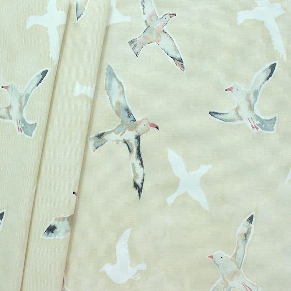 "Design Dekostoff Halbpanama ""Seagulls"" Farbe Sand"