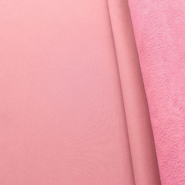 Softshell Fleece Stoff Alt Rosa