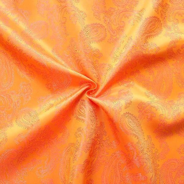 Futterstoff Jacquard Paisley Gelb Orange changierend