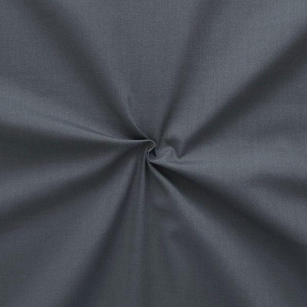 Baumwolle Polyester wie Batist Dunkel-Grau