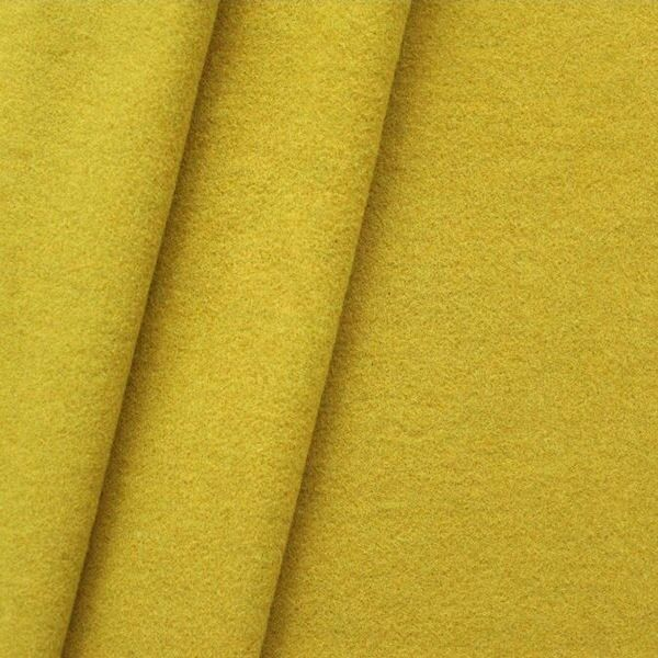 """Mantel Wollstoff """"Klassik"""" Farbe Curry-Gelb"""