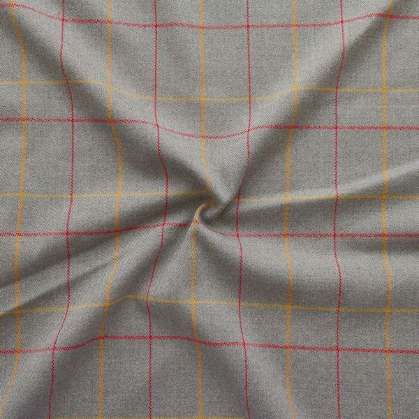 "Modestoff / Dekostoff ""British Karo"" Farbe Grau"