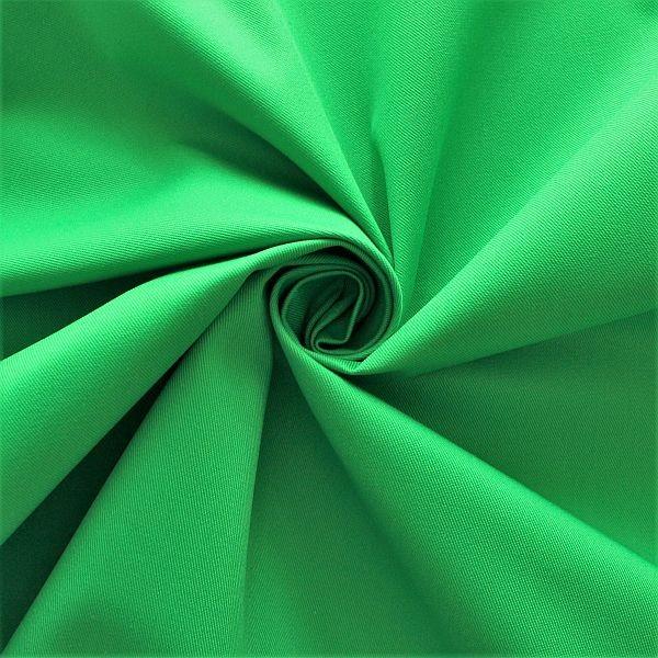Polyester-Baumwoll Köper Basic Workwear Gras-Grün