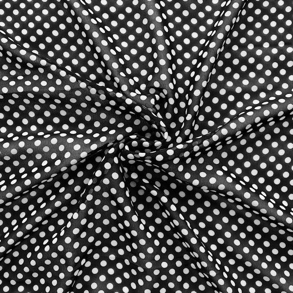 """Polyester Chiffon """"Tupfen"""" Farbe Schwarz Weiss"""