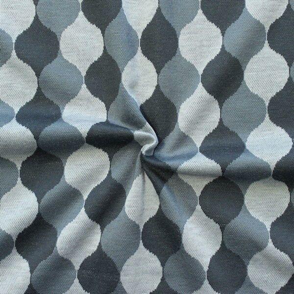 "Strick Jersey ""Kugeltropfen"" Farbe Grau"