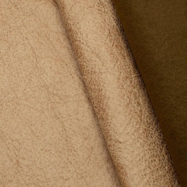Microfaser Polsterstoff Büffel Optik 3 Sand